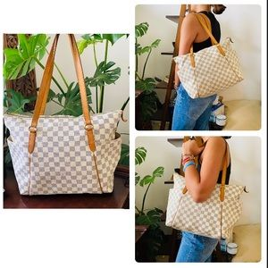 LOUIS VUITTON totally MM damier azur tote bag